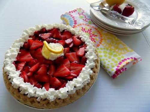 """Strawberry Lemon Pie""""We love strawberry lemonade at our house in the summer...."""