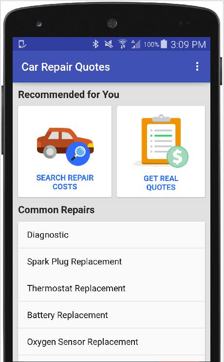 Car Repair Estimate App