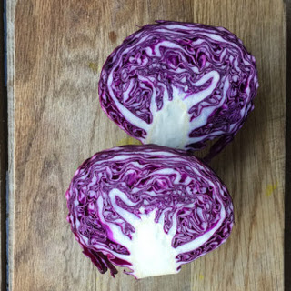 A Very Red Cabbage Salad