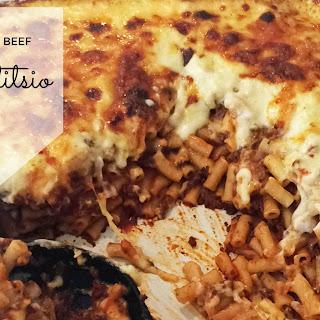Cheesy Beef Pastitsio