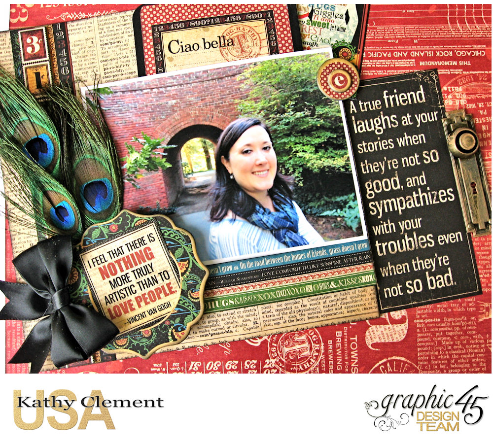 Ciao Bella Layout Tutorial Typography by Kathy Clement Product by Graphic 45 Photo 3 .jpg