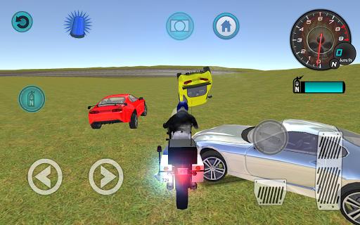 スタント警察バイク3D