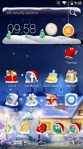 聖誕老人新年快樂主題-GP市場上第一套聲效和動效果主題