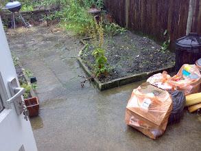 Photo: Flooding the garden