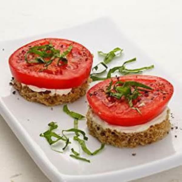 Tomato & Basil Finger Sandwiches Recipe