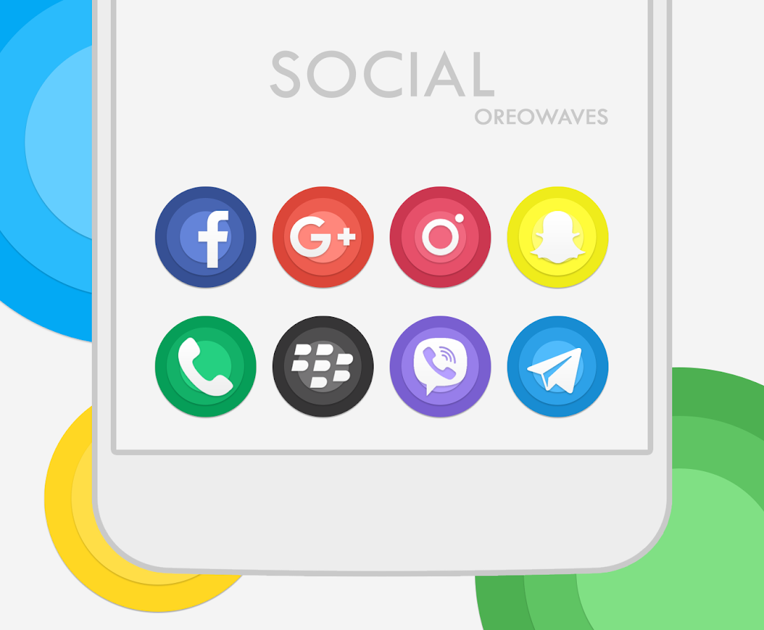 OreoWaves Icon Pack- screenshot