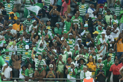 File photo of Bloemfontein Celtic fans.