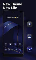 Abstract theme Blue streamers business style APK screenshot thumbnail 1