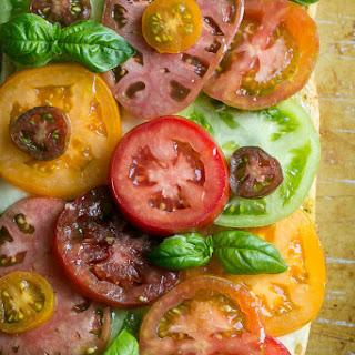 Heirloom Tomato Caprese Toast