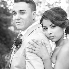 proud love by Amanda Marie - Wedding Bride & Groom ( black and white, weddings, bride and groom )