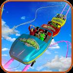 Roller Coaster Uphill Water Park Slide Adventure Icon