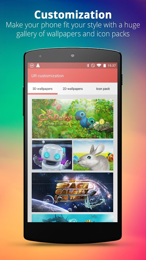 UR 3D Launcher—Customize Phone- screenshot