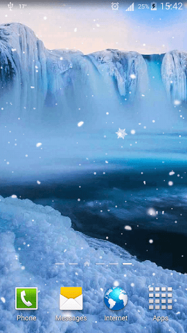 android Frozen Waterfall HD Wallpaper Screenshot 5