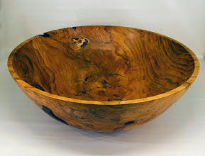 "Photo: Bob Grudberg 18"" x 6"" bowl [cherry]"