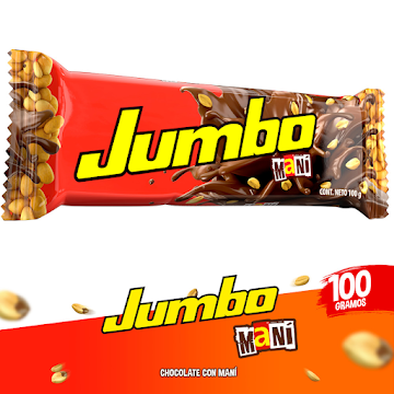 Chocolatina JUMBO con   Leche Maní x100g
