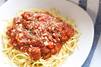 Meat Sauce with Spaghetti
