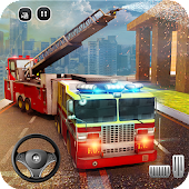 🚒 Rescue Fire Truck Simulator: 911 City Rescue