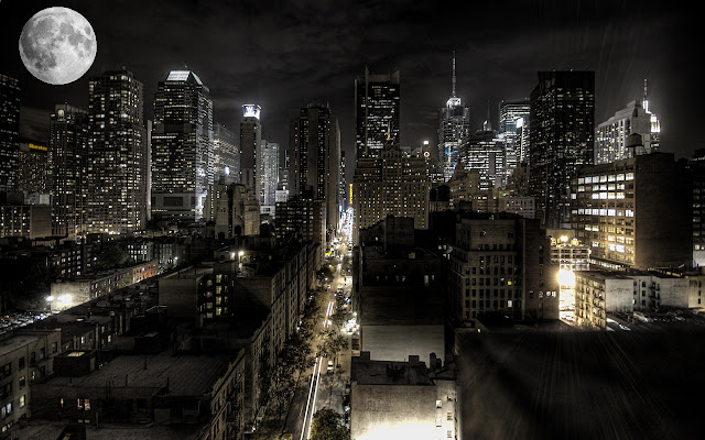 Night Time In New York City