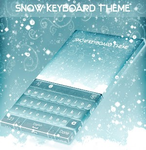 Snow Keyboard Theme - náhled