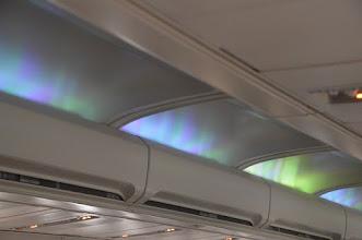 Photo: Aurora lights in IcelandAir jet
