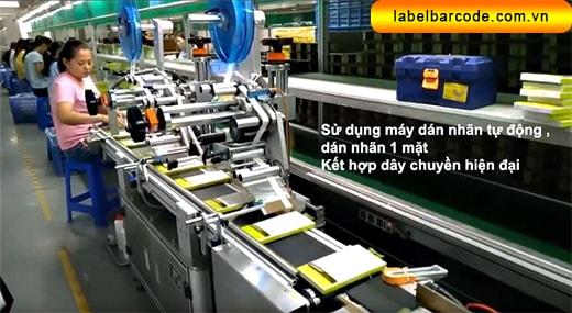ứng dụng máy dán nhãn tự động