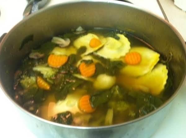 Hearty Ravioli Soup