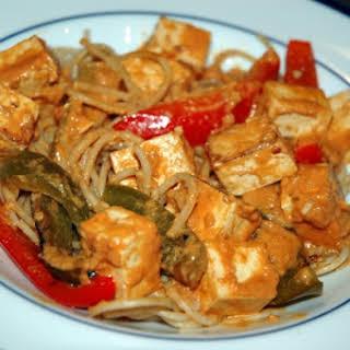 Thai Style Tofu & Noodles.