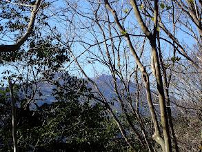 左手に比良山系の山々(武奈ヶ岳)