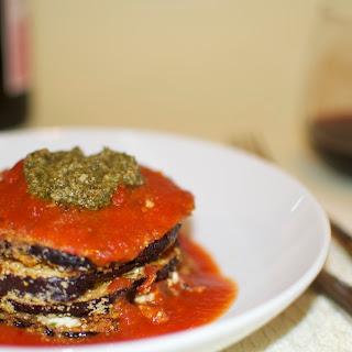 Eggplant Pesto Stack