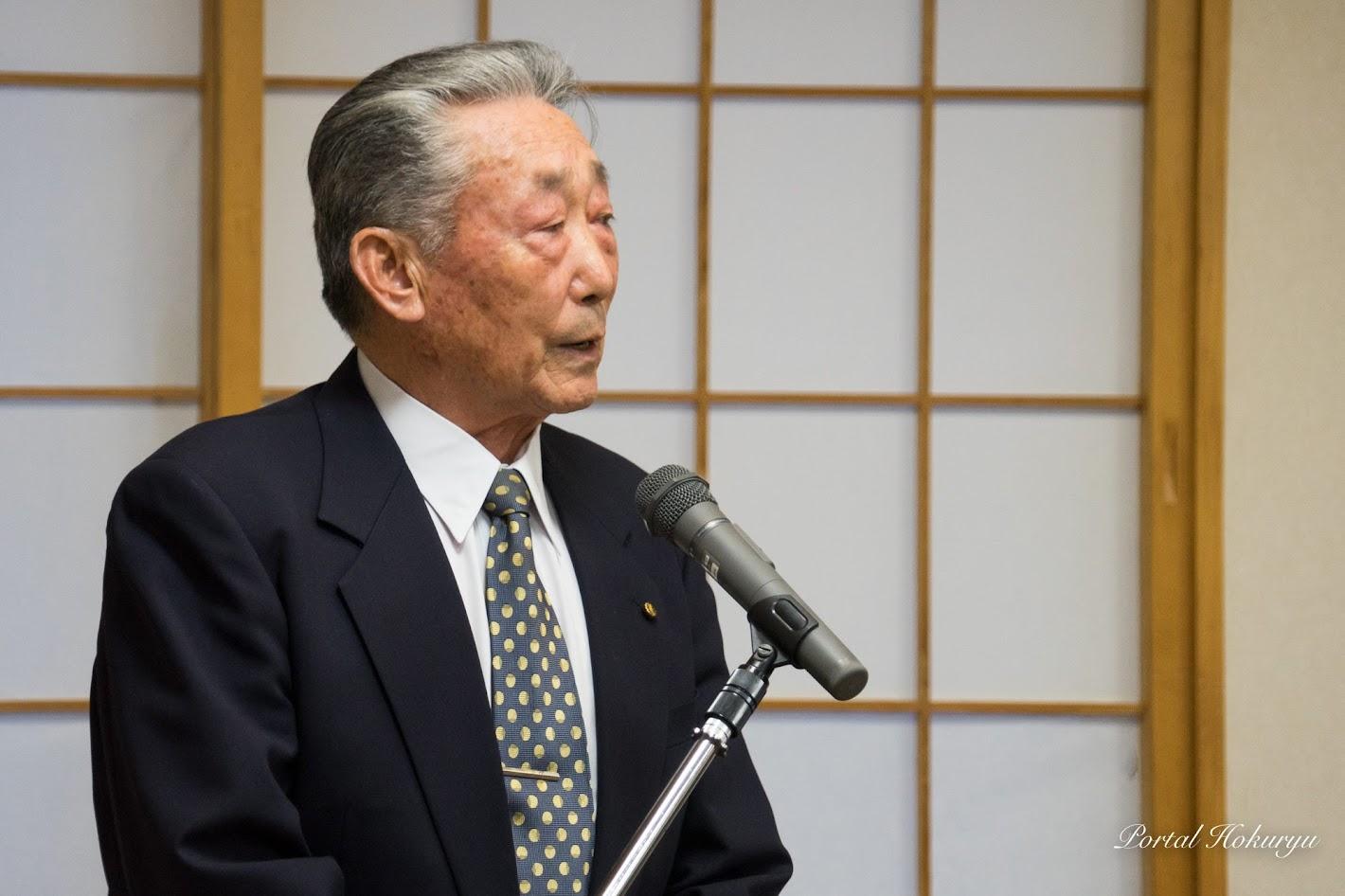 北竜町議会等OB会・北清方巳 会長