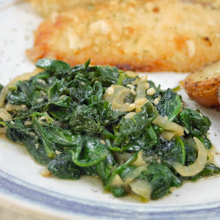 Spinach with Caramelized Onions.