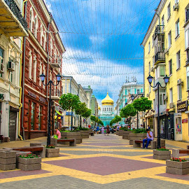 Sobornny Pereulok, Rostov On Don, Russia by Dave Williams - Buildings & Architecture Public & Historical ( street photograpghy, russia, rostov on don, cathederal, cathederal of the nativity of the blessed, russian federation, dave williams, rostov, architecture )