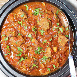 Slow Cooker Persian Lamb and Eggplant Stew.