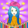 Young Ladies Painting Pages APK Icon