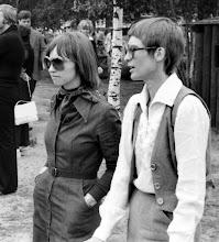Photo: Midsommar 1976 - Gammlia Umeå. Christina F & Gunilla