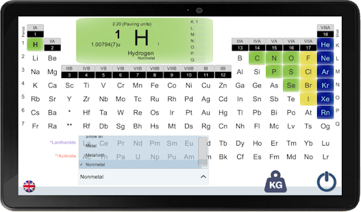 PERIODIC TABLE FOR A SMARTPHONE- screenshot thumbnail