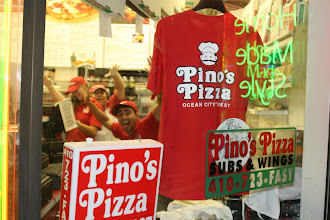 Photo: Pino`s t-shirts for sale for my cost only at $8.99.  They are Heavyweight 100% cotton Jersey shirts.  Sizes left are LG, XL,and XXL.  Ask for green or red.
