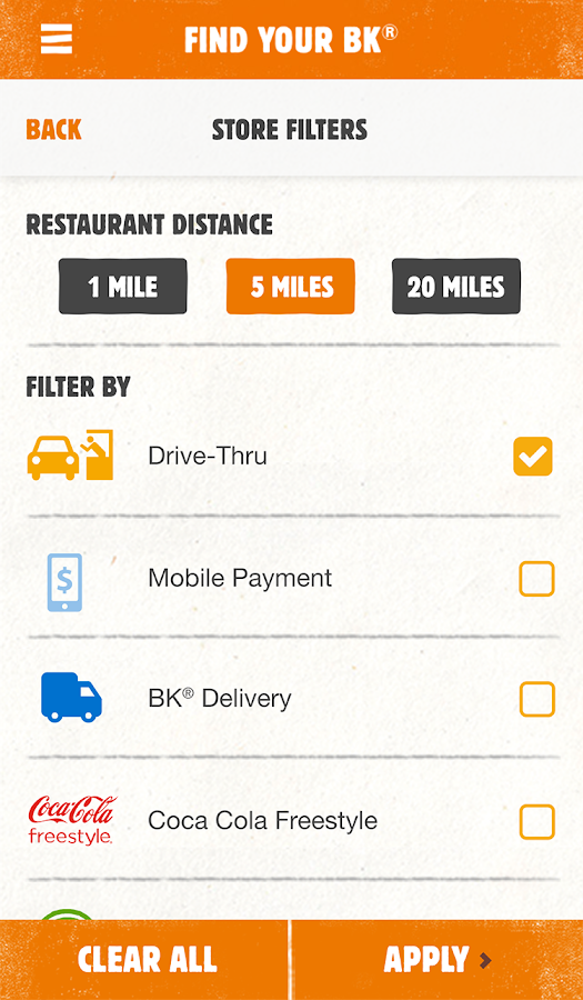 BURGER KING® App- screenshot
