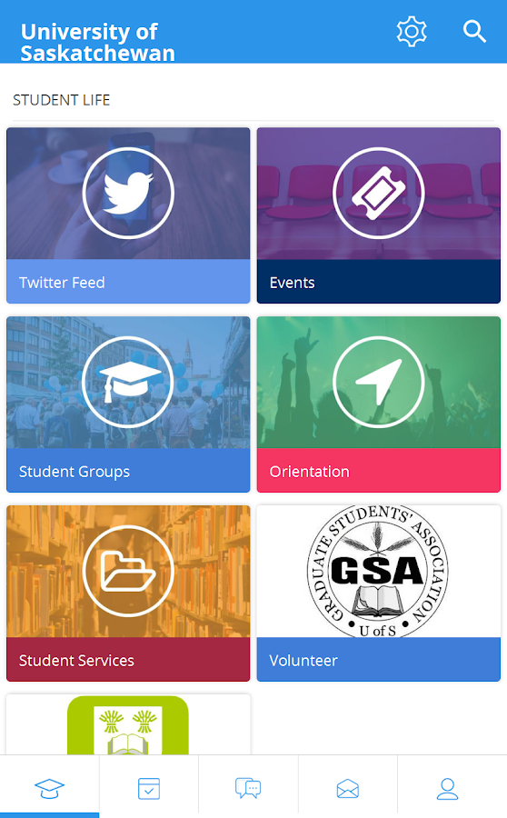 University of Saskatchewan GSA- screenshot