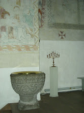 Photo: A marble baptism font.
