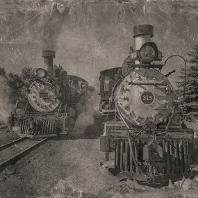 by Fred Prince - Black & White Objects & Still Life ( chama, railyard, cumbres&toltec rr, steam )