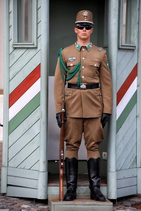 Warta przed Pałacem Sandor, Budapeszt