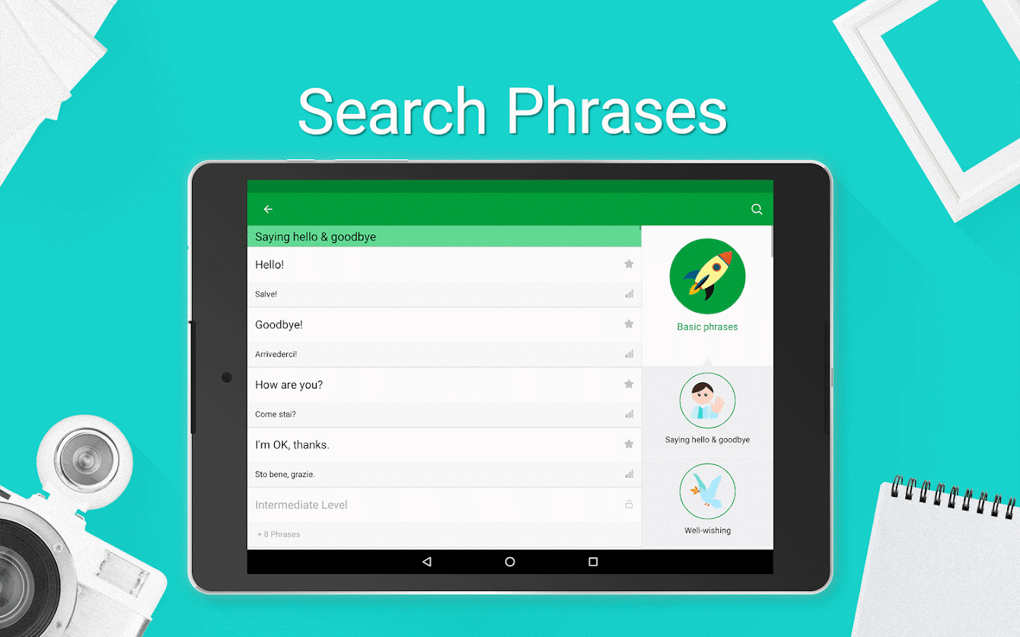 Learn italian phrasebook 5000 phrases android apps on google play learn italian phrasebook 5000 phrases screenshot kristyandbryce Choice Image