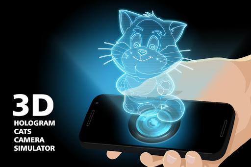 3d hologram cats camera