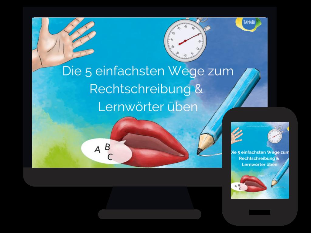 Videokurs Rechtschreibung und Lernwörter üben