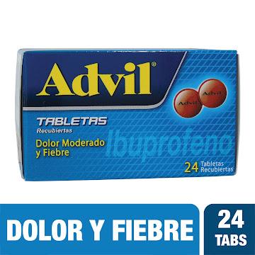 //ADVIL Tabletas Caja   x24Tab. PFIZER Ibuprofeno