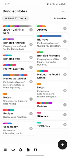 Bundled Notes - writing, lists, to-do, reminders. ss1