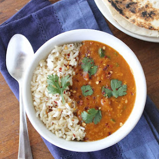 Pressure Cooker Red Lentil Curry. Oil free. V. GF..