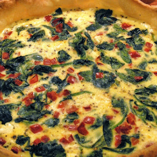 Spinach, Feta And Red Pepper Quiche