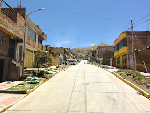 Photo: Puno. The streets and sidewalks in Peru and Bolivia are always swept meticulous clean.